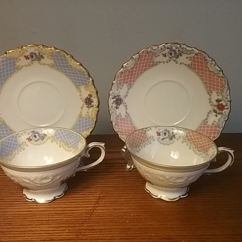 Dresden Schumann cup & saucer, pair - China and Dinnerware