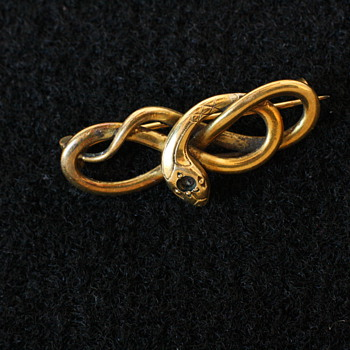 Victorian snake brooch from the FIX company, France - Fine Jewelry