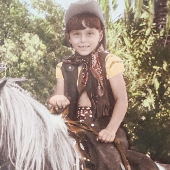 Adorably Cute Cowgirl on a Pony Picture - Photographs