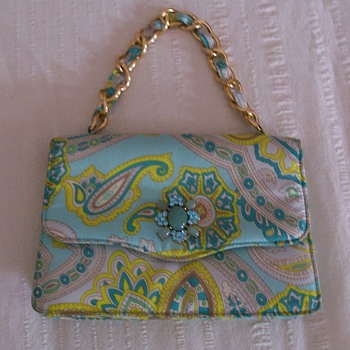 Paisley purse with a little bling - Bags