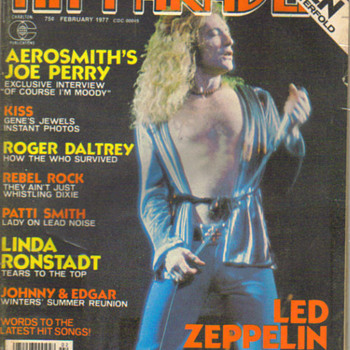 Hit Parader magazine (led zeppelin cover) - Music Memorabilia