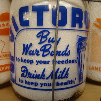 STEARNS DAIRY COMPANY WAR SLOGAN..... - Bottles