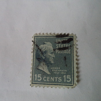 James Buchanan 15cents USA Stamp