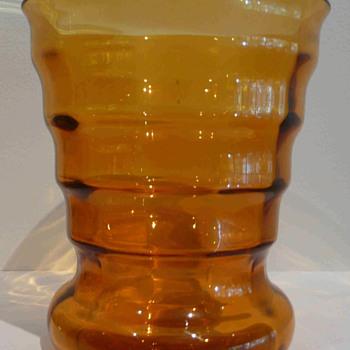 """A """"Little Orange Vase"""" by de Bazel. - Art Glass"""