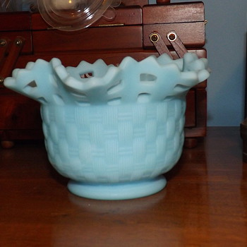 Fenton Basket Weave Bowl - Art Glass