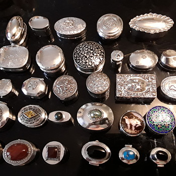 Some of my snuff boxes - Silver