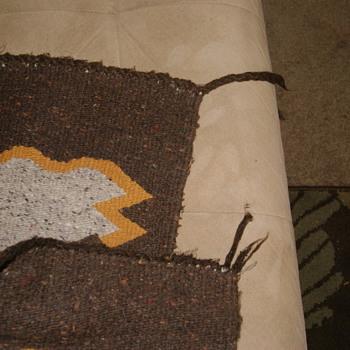 Indian rug close up