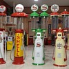 COLLECTION OF DOUBLE VISIBLE GAS PUMPS