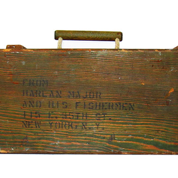 """Harlan Major And His Fishermen"" WWII Tackle Box"