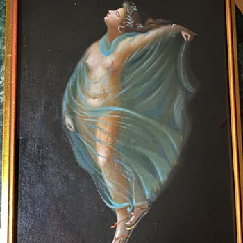 Diaphonous Painting of a Loosely-Clad Nymph - Fine Art
