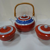 Genemon kiln Japanese pottery tea set