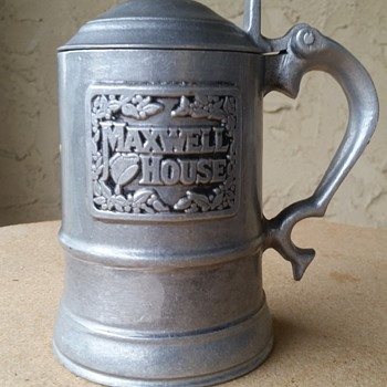 Maxwell House Pewter Stein   - Advertising