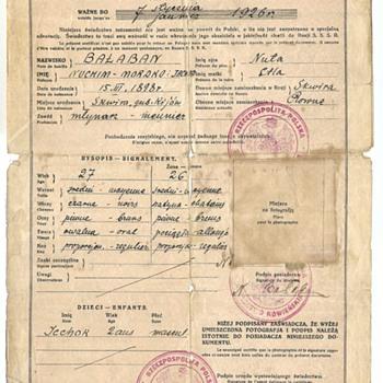 1922 Polish Nansen passport - Paper