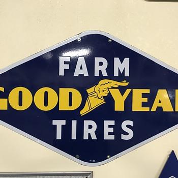 Goodyear tire sign farm tires  - Petroliana