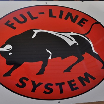 Ful - Line System porcelain sign - Signs