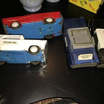 Antique Tin Car Lot - Model Cars