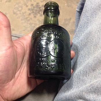 Late 1800's B.B. & co.  Glass bottle - Bottles