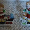 Boy and girl figurine set
