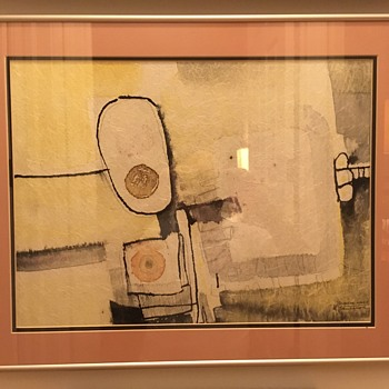 Abstract Painting (Title/Year Unknown) by Sister Blanche Marie Gallagher - Fine Art