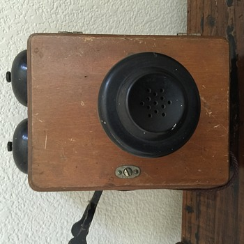 Old Telephone with Chinese Decal - Telephones
