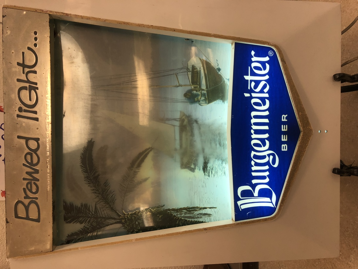 Burgermeister Beer Lighted Electric Sign Collectors Weekly