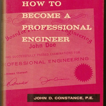 "1966 - ""How to Become a Professional Engineer"" - Books"