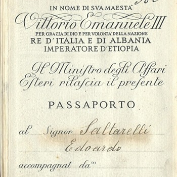 WW2 Italian passport
