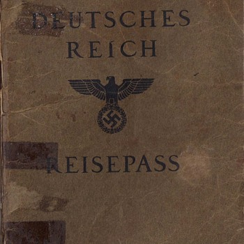 J stamped German passport - Jewish community leader