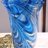 Italian Art Glass Tall Swirl Vase