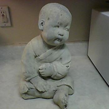 ASIAN GARDEN STATUE BOY
