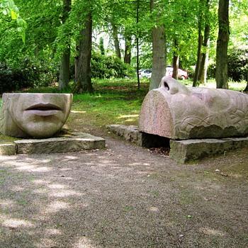 Stone sculpture. Sofiero Park, Sweden, June 8th, 2010 - Fine Art