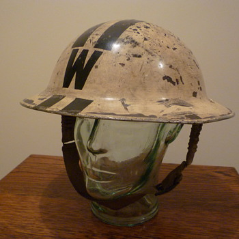 British WWII Senior Wardens steel helmet. 1939