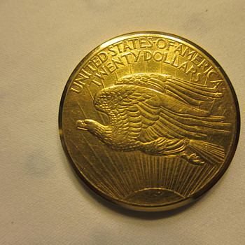 Baume & Mercier  Gold Coin Watch; 1908 St. Gaudens Double Eagle