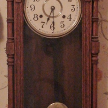 """Queen Elizabeth"" Wall Clock Ansonia 1890 - Clocks"