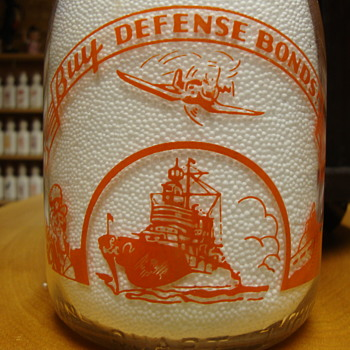 War slogan Quart Lenick's Dairy - Bottles