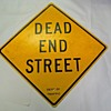 "1960s Department of Traffic ""DEAD END STREET"" sign from New York City"