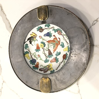 Vintage Hong Kong Bowl in Pewter - Asian