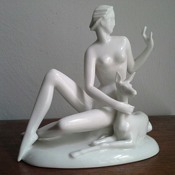 gerhard schliepstein figurine - Art Deco