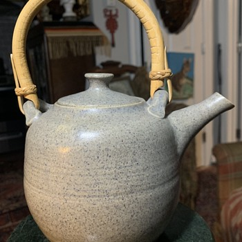 Very Nice Studio Pottery Teapot signed 'Dewar'[?] - China and Dinnerware