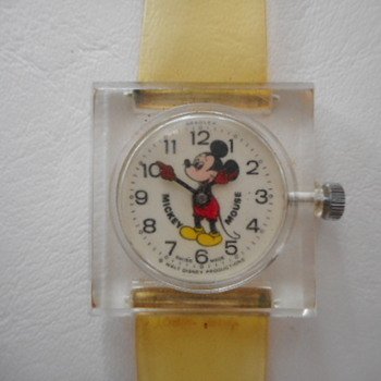 Mickey Mouse Lucite Watch - Wristwatches