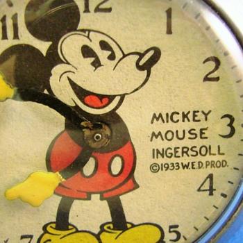 Al Horen Mickey Mouse Pocket Watch