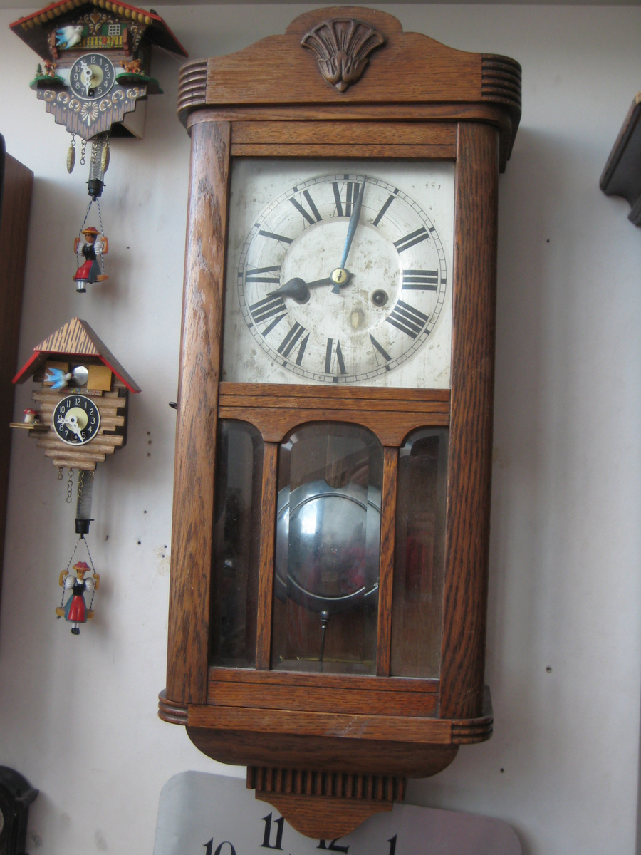 Antique 1920s german hac chiming wall clock collectors weekly amipublicfo Choice Image
