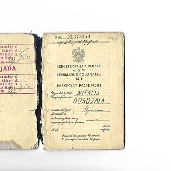 1936 official Polish passport for the Olympics   - Paper