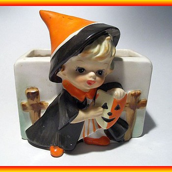 Vintage RELPO Halloween Small Planter -- Japan - Pottery
