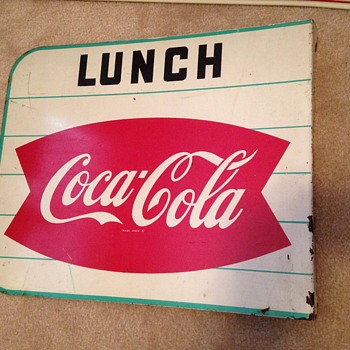 1960's Coca-Cola Fishtail Flange Sign - Coca-Cola