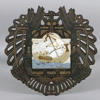 "Circa 1900 Scandinavian ""Viking Style"" Art Nouveau Metalwork Side Table - Art Nouveau"