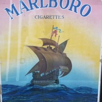 Vintage Marlboro card board ad - Tobacciana