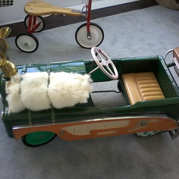 """""""Pedal Assist"""" Thistle pedal car T30 ( before and after) - Model Cars"""