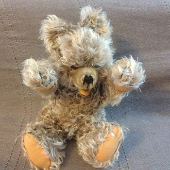 "Hermann Original Teddy Bear 14"" Zotty Mohair Jointed Neck Arms"