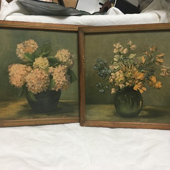 Estate find,signed pictures ??? I added another pix.... I swear I see brush strokes and texture !! - Fine Art